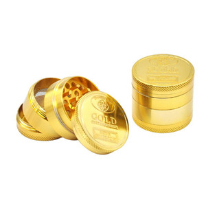 Gold 40mm 50mm 4 Layers SF California Bag Zinc alloy Herb Grinder Tobacco Vape Grinders Accessories