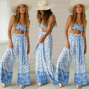 Women Sleeveless Crop Top Casual Loose Jumpsuit Long Pants Outfits 2pcs Cover Ups Boho Style Playsuit