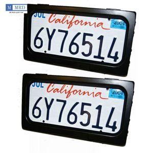 2 Placas / Conjunto Tailândia Auto Esconder Obturador Licença Frame Dispositivo Stealth Front Remote Remote DHL / FedEx / UPS