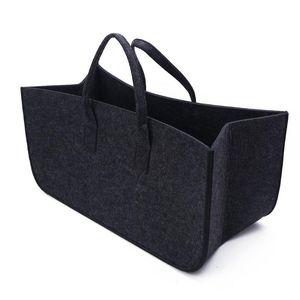 Felt Storage Baskets Foldable Rectangular Bag Portable Multipurpose Basket