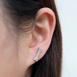 Small bone earrings new Queen Mother of the West full of diamonds inlaid skull bone earrings in stock