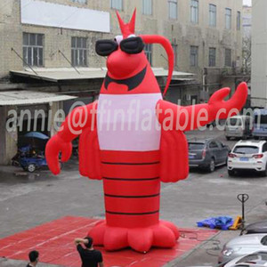 Giant Inflatable Crawfish Large Cartoon Lobster Modle For Festival Advertising 7m Inflatable Crayfish Shrimp Prawn 23ft Logo Can be added
