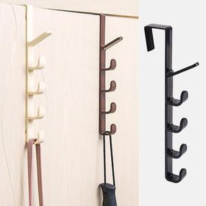 Puerta de dormitorio Ropa para colgar Rack de plástico Almacenamiento para el hogar sobre la puerta Soporte de bolsas para bolsas Rieles Organización Ganchos