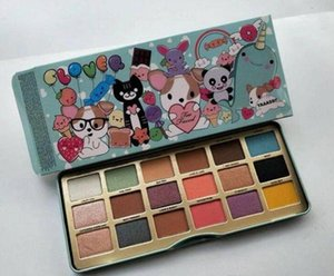 HOT A Girl Best Friend Makeup Collection Eyeshadow 18 Color Eyeshadow Clover Face Cute Animal Eye Shadow Palette DHL Shipping