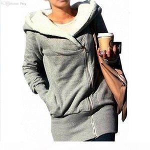 Wholesale- Hot Sale fashion Womens autumn winter Long Zip Tops Hoodie Coat Jacket Outerwear women coat Drop shipping GWF-684820