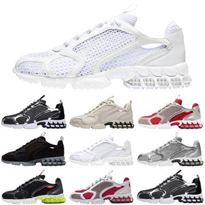 New zoom spiridon caged 2 fossil men women sport shoes triple white cool grey outdoor mens trainers sports sneakers runners