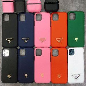 حالات مصمم جلد حالة كلاسيك للفون 12 11 برو ماكس XS XR X 8 7Plus أزياء العلامة التجارية تغطية كاملة حالة الهاتف واقية