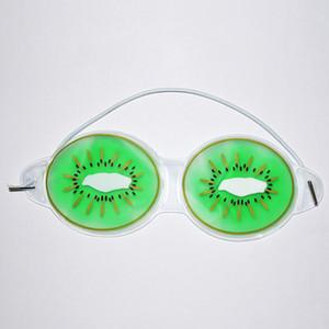 19 * 7см Ice Gel Eye Mask Маски для сна Холодный компресс Cute Fruit Gel глаз Усталость Рельефные Охлаждающие релаксации Уход глаз 3 Стиль KKB2709
