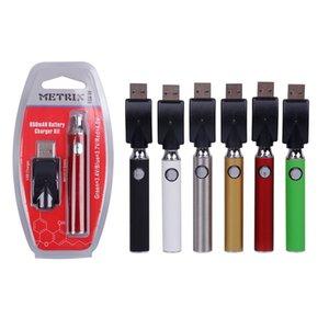Otantik Metrix Vape Pil 650mAh Vape Kalem Şarj Kiti Değişken Gerilim Ön ısıtma VV Buharlaştırıcı 510 Kalın Yağ Kartuşları için Vaporlaştırıcı