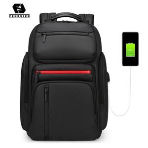 Fenruien Fashion Business grande capacité Sac à dos pour ordinateur portable Hommes multi fonction USB de charge Sac à dos Voyage Sac d'école pour Adolescent C1008