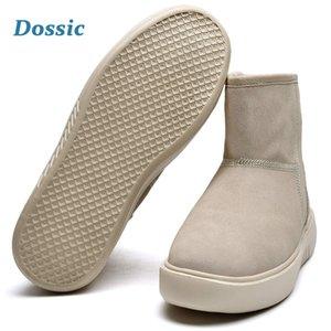 Hiver Suede neige classique Femme Bottes Chaussures d'extérieur Slip doublé Non isolé Réchauffez imperméable Dossic courte pour Mini cheville Nftwd