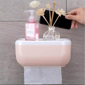 Punch Free Tissue Box Toilet Bathroom Napkin Box Shampoo Phone Sundries Storage Rack Waterproof Toilet Paper Storage Holder