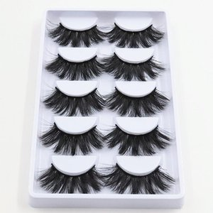 High quality 3D lashes 5 pairs 20mm artificial mink eyelashes, dramatic curly hair false eyelash extension cosmetics