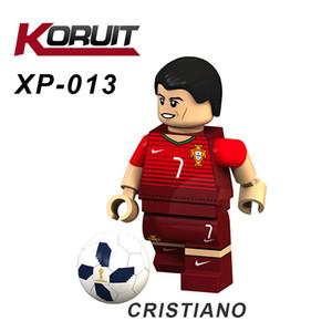 Toy Building Blocks giocattolo blocco World Cup Sport Star Player Mini Action Figure Beckham Luiz Nazario Football Star Sport Gioco