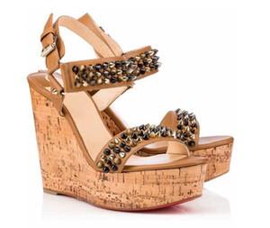 Hot Sale- Perfect Quality Ladies Sexy Gladiator Sandals Best Quality Red Bottom Cataclou Wedge Sandals New Designer Women High Heels