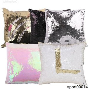 10pcs / lot envío libre 16x16 pulgada sublimación lentejuelas almohada caja de almohada decorativa imprimible calor prensa cojín cubierta