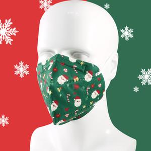 Yeni Tasarımcı yılbaşı KN95 Tek Yüz Maskeleri Elastik Kulak Döngü 5 Kat Nefes Toz Koruma Noel Baba Kırmızı Maske yazdır