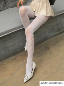 레이스 백인 여성의 가을과 겨울 얇은 컷 그물 스타킹 팬티 스타킹 안티 훅 실크 섹시한 G 편지 양말