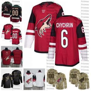 2021 Arizona Coyotes Jakob Chychrun Stitched Jerseys Customize Vintage Black Shirts #6 Jakob Chychrun Hockey Jerseys S-XXXL