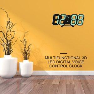 USB 3D Modern Digital LED Table Night Wall Clock 24 12 Hour Timer Alarm 6 Colour Digital Clock Digital Wall Clock Led