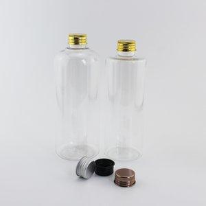 300ml / 400ml de gran tamaño de botellas de cosméticos para mascotas en champú Tóner vacío transparente contenedores con aluminio / plástico Tapón de tuerca 12pzas