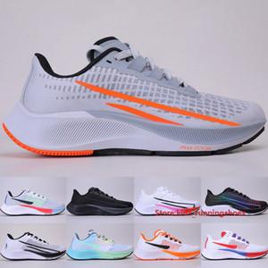 Top Pegasus 37 Turbo Hombres Mujeres Running Shoes Design Sé True Butterfly Puro Platium Wolf Grey Naranja Zapatillas de deporte al aire libre 36-45