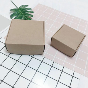 100pcs Black Kraft Paper Craft Box Small White Soap Cardboard Paper Packing Package Box Brown Candy Gift Jewelry Packaging Box H jllPjr