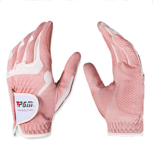PGM Golf Gloves Mujeres Guantes de deporte de la mano izquierda Mano derecha Mano de alta calidad Nanómetro de paño Golf Protección de palma transpirable