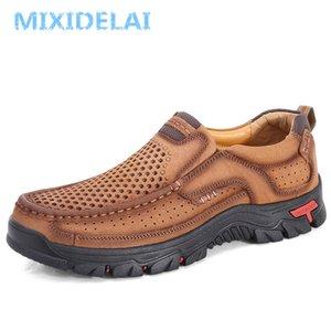 Mixidelai Hakiki Deri Erkek Ayakkabı İngiltere Trendi Erkek Ayakkabı Seti Ayak erkek Rahat Açık Havada Adam Flats İş Ayakkabı Büyük Boy LJ201120