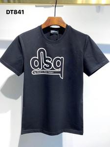 DSQ PHANTOM TURTLE 2021SS New Mens Designer T shirt Paris fashion Tshirts Summer DSQ Pattern T-shirt Male Top Quality 100% Cotton Top 1176