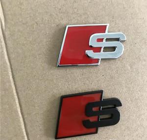Car Styling Sline distintivo dell'emblema Sticker Red Car anteriore nera posteriore Boot Side Door In forma per l'Audi Quattro VW TT SQ5 S6 S7 A4 Accessori