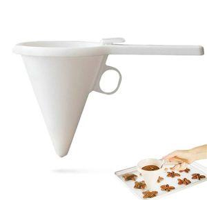 Crema cioccolata cioccolatini liquidi separatore bianco tenuto in mano cucina pratico gadget imbuto gadget torta torta strumento di cottura di alta qualità 1 8JB J2