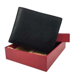Tenedor de la tarjeta de crédito del negocio de la cartera de hombres de alta calidad italiana del bolsillo de la billetera de cuero del párrafo corto con la caja al por mayor Price