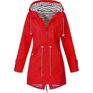 S-5XL Windbreaker Coat Women Rain Jacket Outdoor Waterproof Hooded Raincoat Spring Autumn Solid Basic Jacket Plus Size1