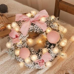 Hot Christmas Wreath New Year Window Door Decoration Props Scene Arrangement Christmas Wreath Decorations guirnalda navidad