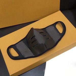 Maschere protettive protettive di progettazione protettiva per la maschera protettiva di cuoio del marrone del marchio di modo della nave 1pc della nave della nave con il contenitore di regalo Trasporto libero