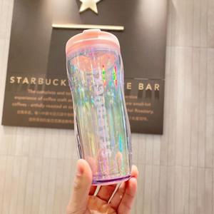 Neueste Starbucks Valentinstag Kaffeetasse Tumbler 12 Unzen bling bling-Mond-Sterne Pailletten blenden aus dooor Sport Begleitende Tasse