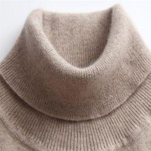 Gaberly Soft Cashmere Sleeers Elásticos e Pulhas para Mulheres Outono Turtleneck Feminino Lã Feminino Camisola T200101