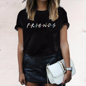 2020 Summer Friends Letter T Shirt Women Tshirt Casual Funny T Shirt For Lady Girl Top Tee Hipster Drop Ship shirt