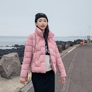 DROWYD 패션 겨울 눈 코튼 코트 여성의 새로운 캐주얼 4 색 방풍 두꺼운 우아한 런닝 맨 블랙 스트리트 코트 201,015을 따뜻하게