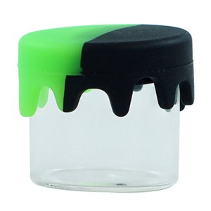 MOQ=10!! Silicone container soil silicone Wholesale silicone jars dab wax container with round shape 0.9''*0.9''