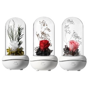 Eternal Rose Aromatherapy Diffuser Essential Oil Aroma Humidifiers 7 Color LED Light Office Home Car Decoration Night Lamp Gift