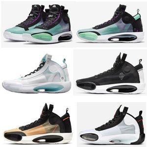 XXXIV Men Basketball Shoes 34 Bred Blue Void Eclipse Amber Rise Snow Leopard Men Women Sports Shoes Sneakers Size 7-12