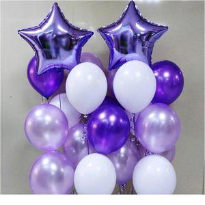 12 Inch Purple Balloons Confetti Decorations Birthday Party Decor Metallic Balloon Set Adult Kid Baby Shower Wedding bbyAAU