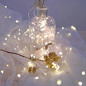 newString luz de plata Garland decoración de la boda de hadas fiesta de Navidad alambre casero del LED alimentado por batería de masa USB 7