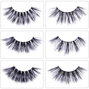 Soft 3D Fluffy False Mink Eyelashes 12 Styles 25mm Mink Eyelashes Bulk Extension Custom Private Label