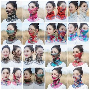 Outdoor Fashion Women Veil Windproof Half Face Dust-proof Sunshade Scarf Dust Mask Ear Type Party Masks T2i5899