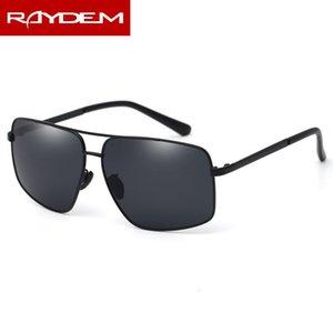 Yeni Dikdörtgen Güneş Erkekler Polarize Güneş Gözlükleri Sürücüler Sürüş Vintage Gözlük Alaşım Çerçeve Balıkçılık Erkek Sunglass
