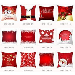 Merry Christmas Pillowcase Sofa Cushion Pillow Cases Sofa Car Cushion Cover Home Decor Christmas Decorations for New Year