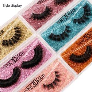 2021 TOP 3D накладные ресницы натуральные норковые ресницы красочные карты макияж многопальные оптом фабрика низкая цена реальные норки волосы ложные ресницы